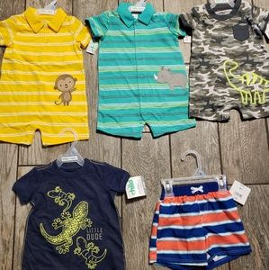 Child of mine,4 rompers size 3-6 month